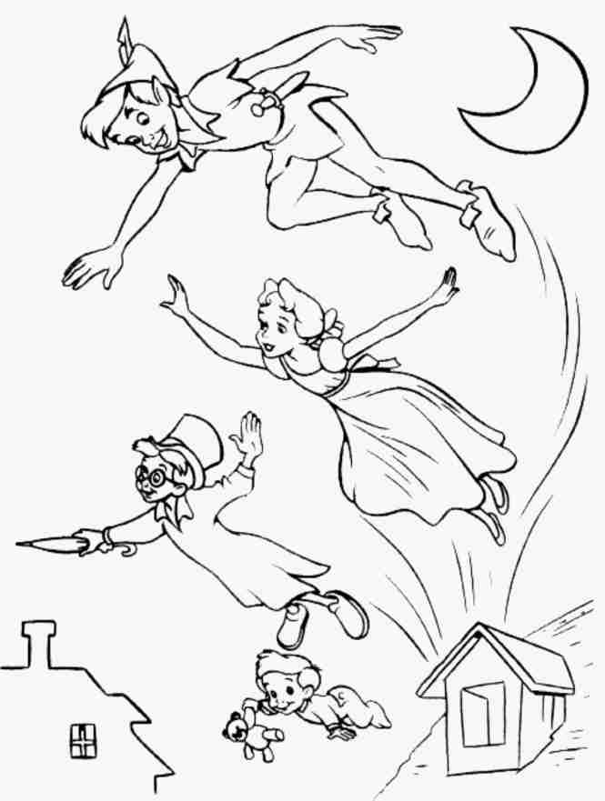 peter pan coloring page | Coloring Page for kids