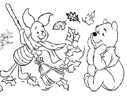 pooh-piglet-disney-fall-coloring-pages-preschoolers-
