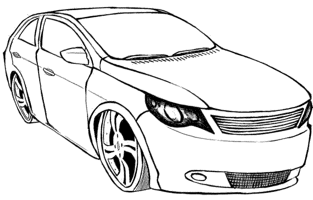 Print Download Kids Cars Coloring Pages