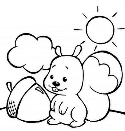 printable-coloring-pages-kids-squirell