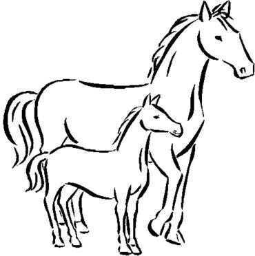 coloring pages printable horses | Fun Horse Coloring Pages for Your Kids Printable