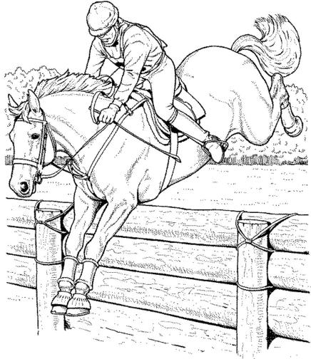 race-horse-coloring-pages
