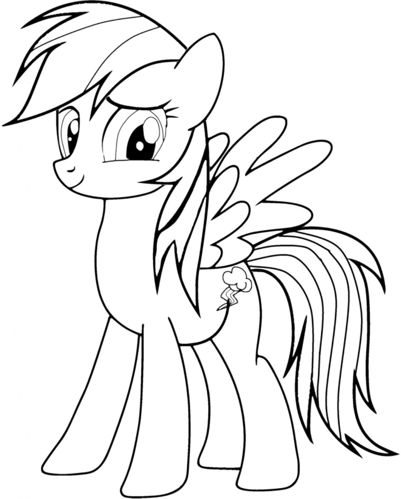 Rainbow Dash Coloring Pages Free Bestappsforkids