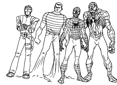 spiderman-coloring-pages-with-venom