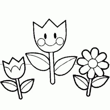 spring-flowers-coloring-pages
