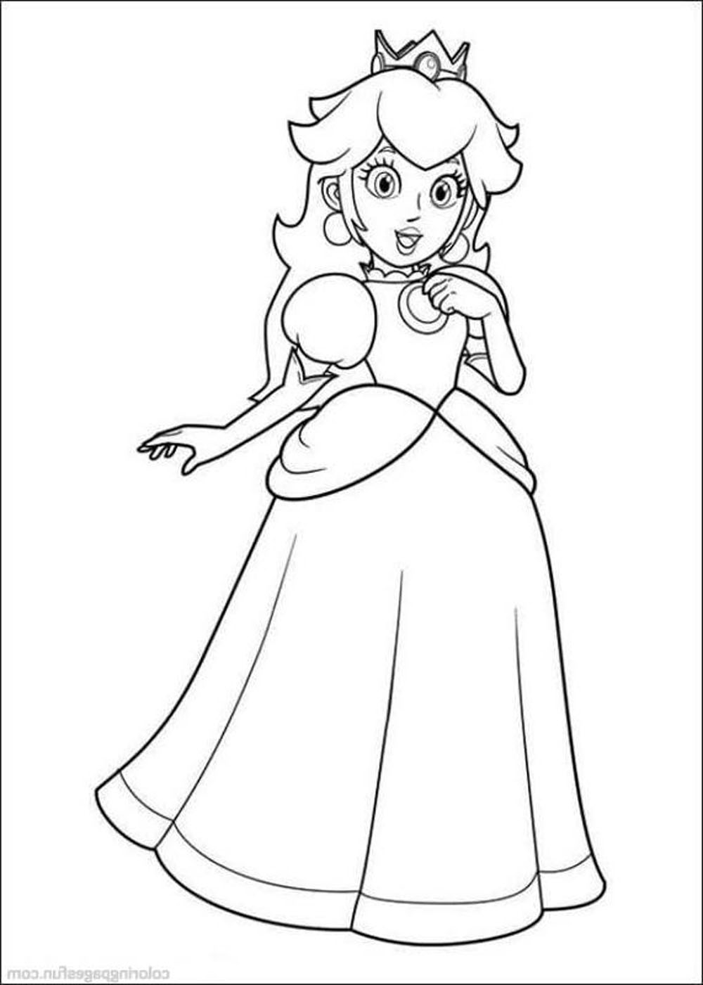 Print Download Mario Coloring Pages Themes Super Paper Page Free