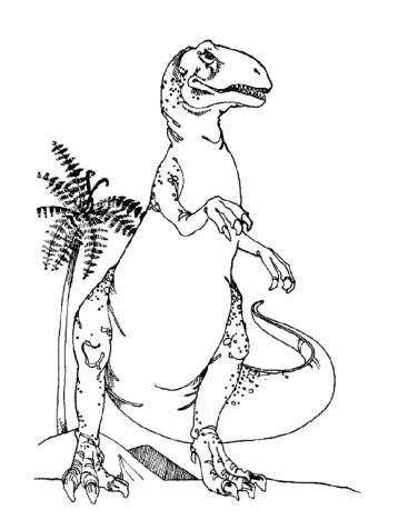 t-rex-color-page