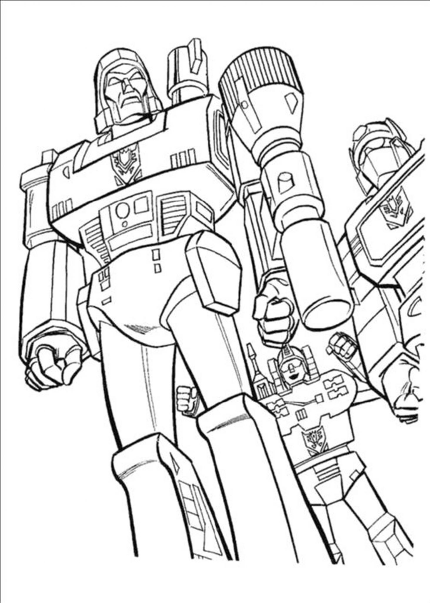 Inviting Kids to Do the Transformers Coloring Pages