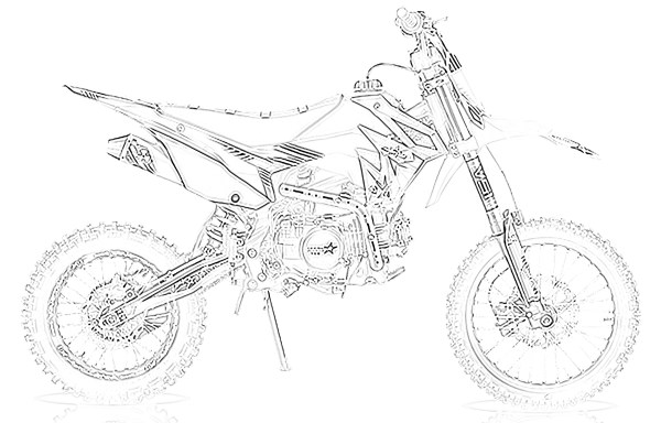 dirt bike coloring page # 39