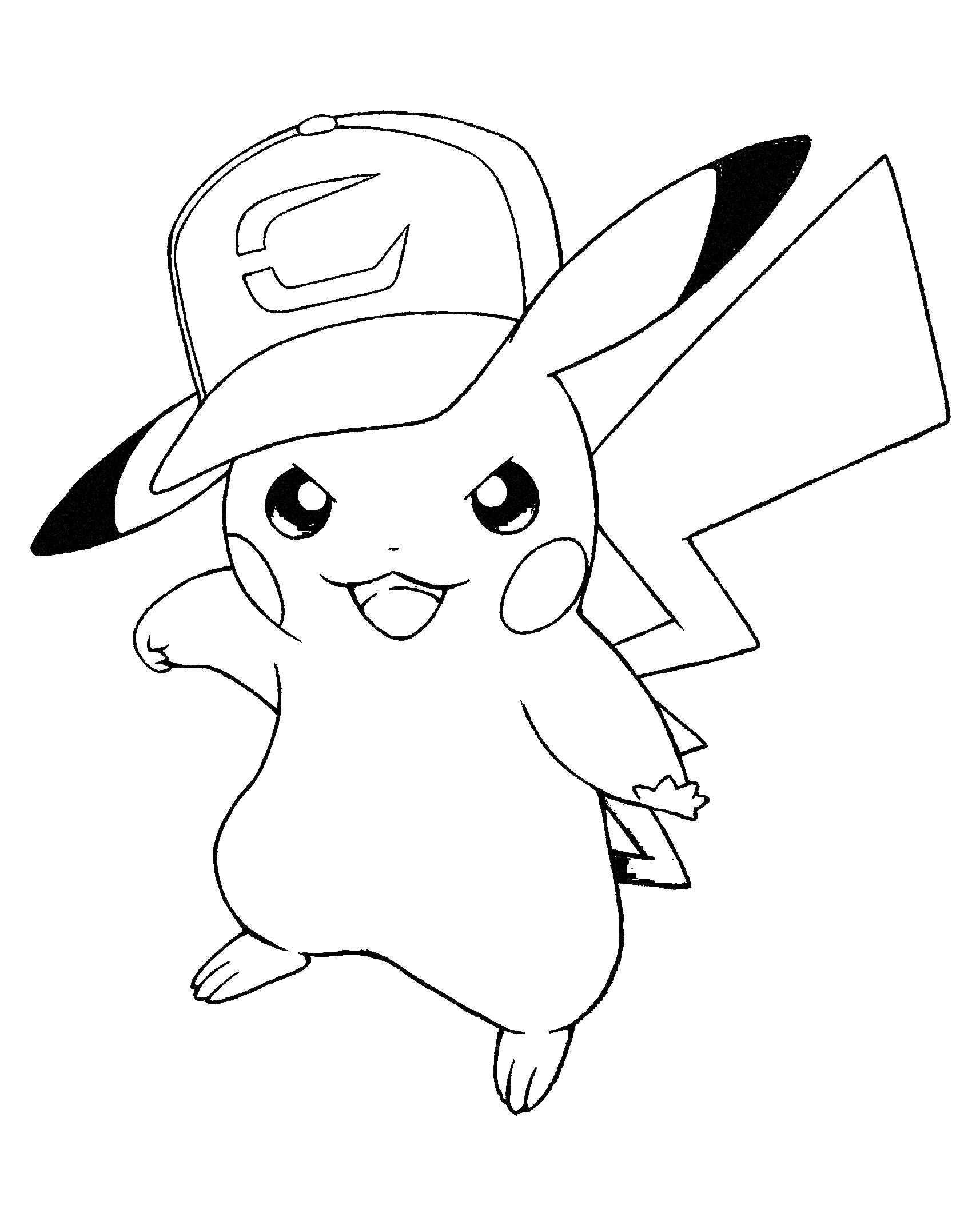 10 Free Pikachu Coloring Pages for Kids