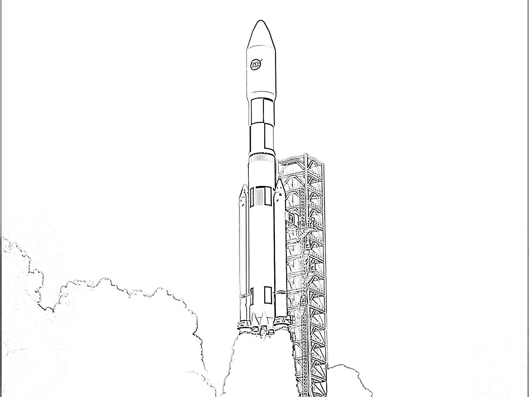 10 Free Rocket Ship Coloring Pages For Kids