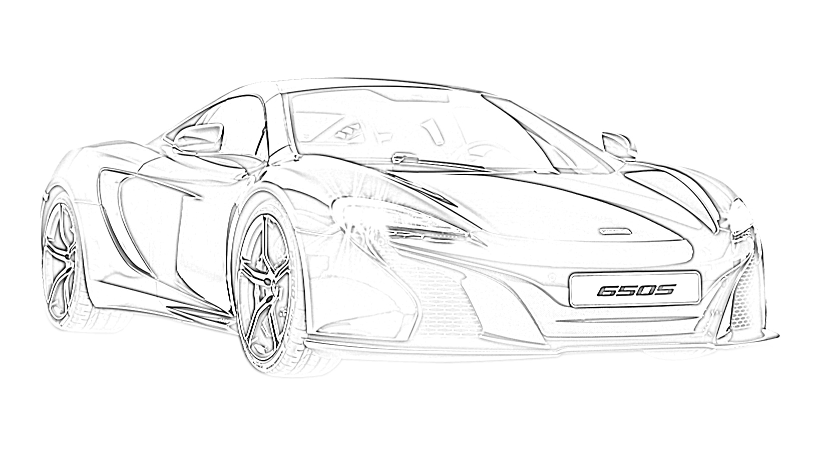 Supercars Gallery Mclaren Supercar Coloring Pages
