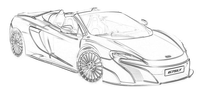 Sports car mclaren 20LT coloring page   BestAppsForKids.com
