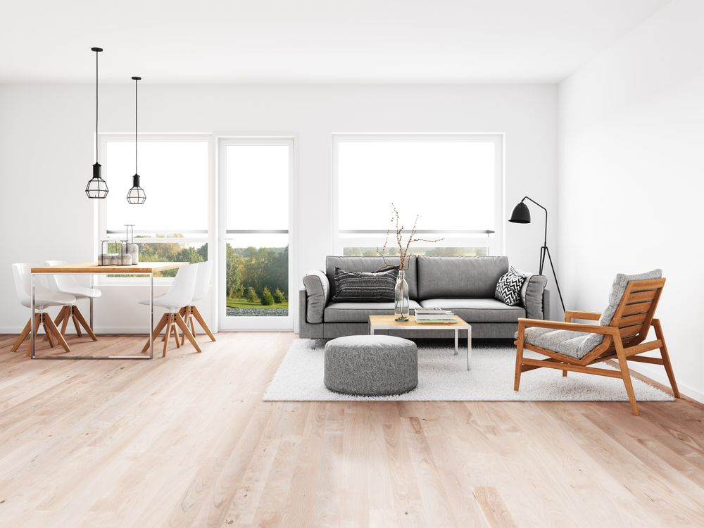 A Minimalist Living Room Simplicity Beauty and Comfort