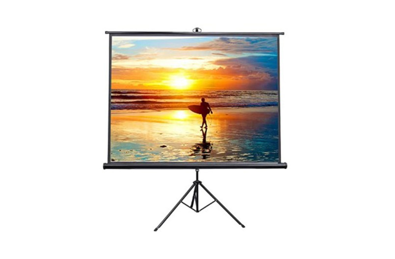 Best Portable Indoor Outdoor Projector Screen - VIVO 100-inch