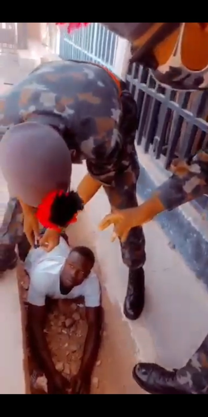 Nigerian Defence Academy students beat up civilian and smashed his phone