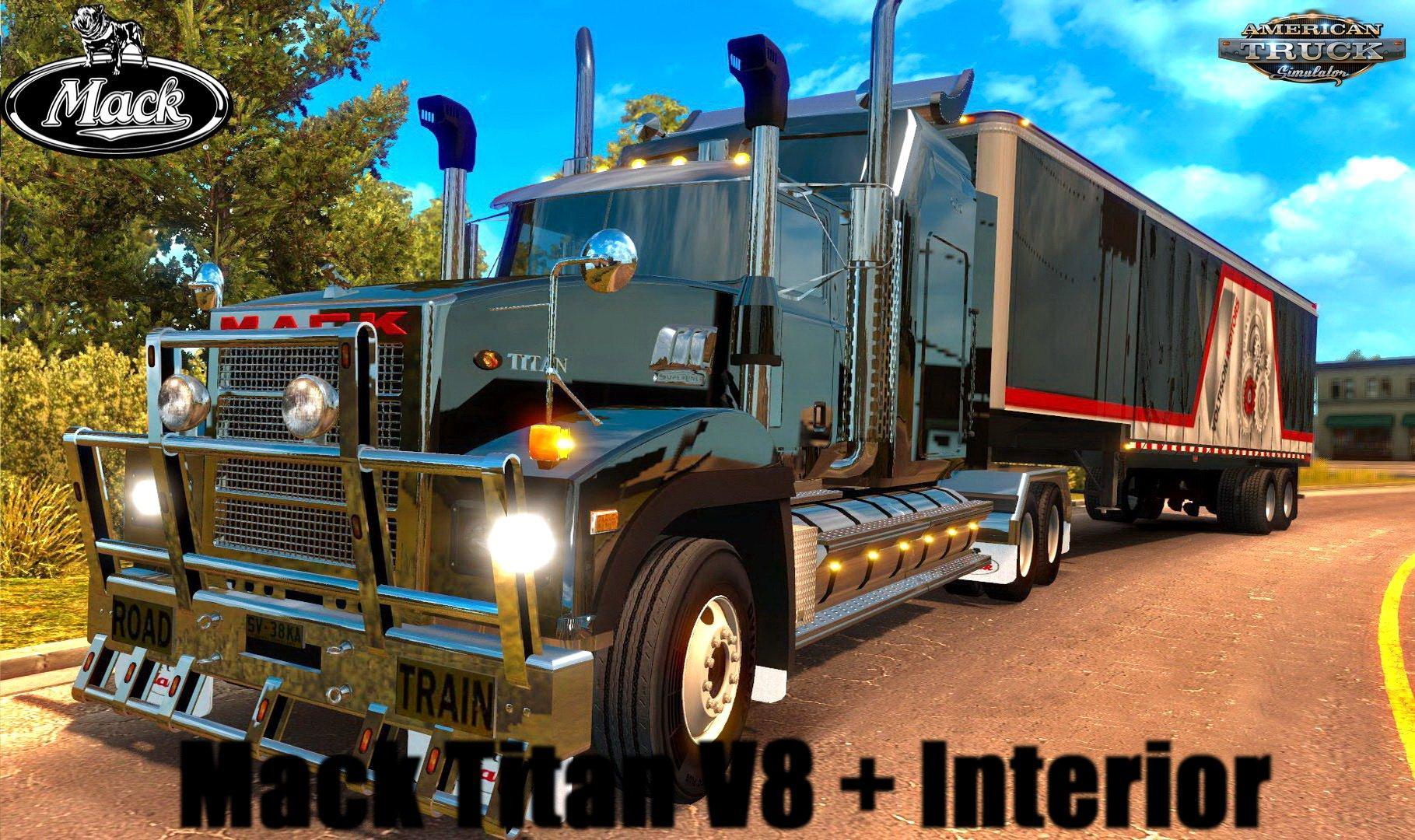 hight resolution of mack titan v8 interior v3 2 1 30