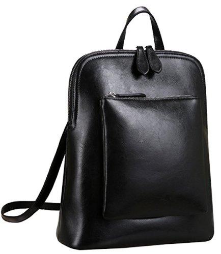 Heshe Women's Vintage Leather Backpack