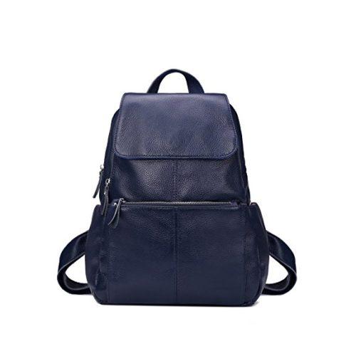 Leyan Genuine Leather Backpack Shoulder Purse