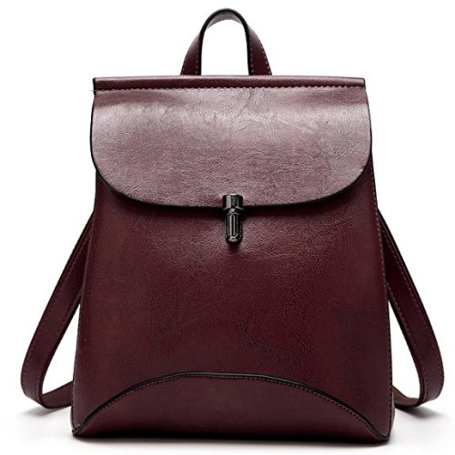 SiMYEER Women's Pu Leather Backpack Purse
