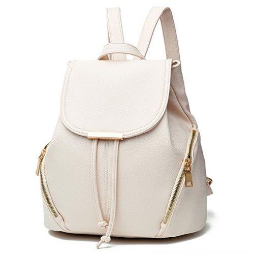 Z-joyee Casual Purse Fashion School Leather Backpack