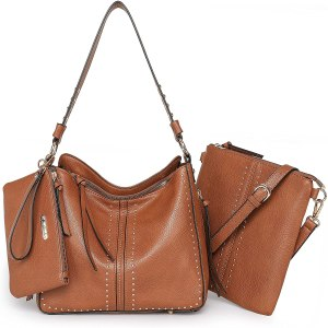 Montana-West-Tote-Handbags-for-Women-Handgun-Concealed-Carry-Purses-Leather-Hobo-Shoulder-Bag-3pcs-Purse-Set, small-brown-leather-purse