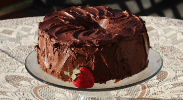 Dark Chocolate Chiffon Cake