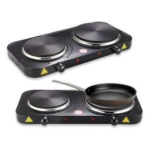 Electric Hot Plate Double - 2000W (Black)