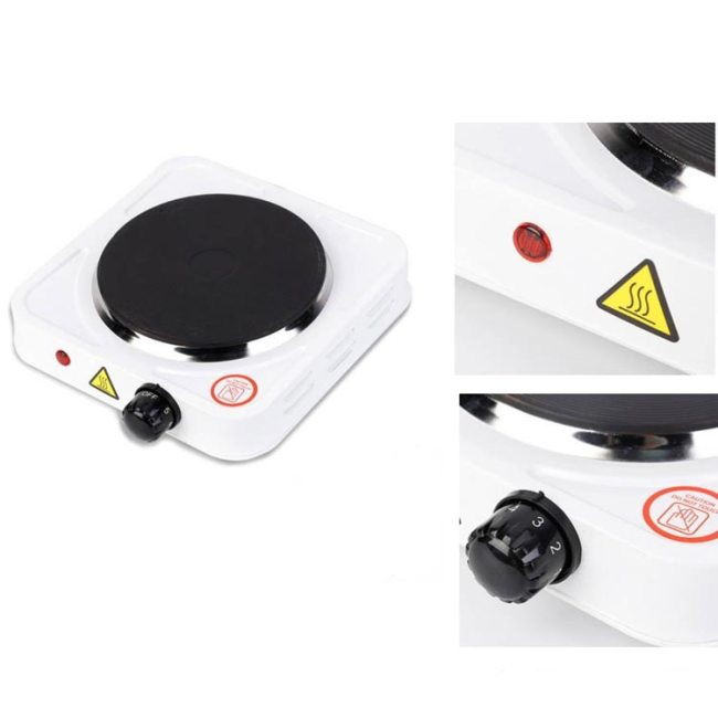 Electric Hot Plate Single - 1000W (White)