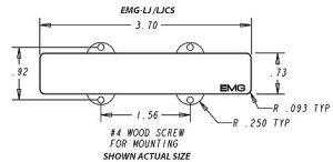EMG Victor Wooten 4String XSeries PJ Pickup Set  Best
