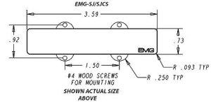 EMG JA 4 or 5String Jazz Bass Pickup Set  Best Bass Gear