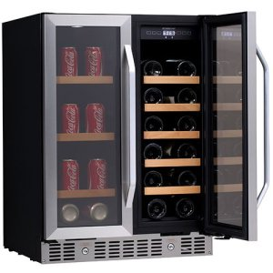 A wine and beer fridge can be the perfect compromise