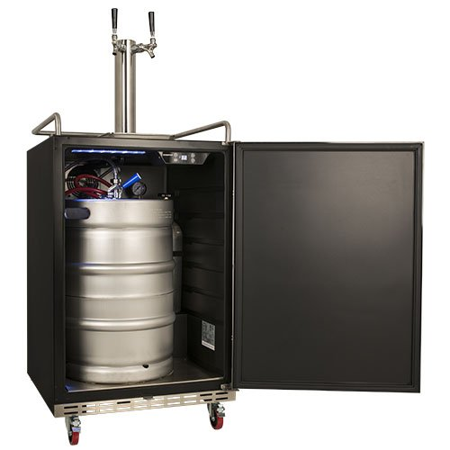 A Full Size Beer Keg Fits Perfectly In This Kegerator