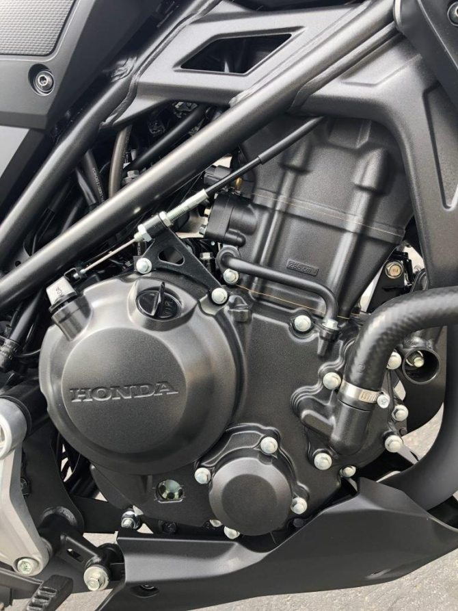 2019 Honda CB300R engine.