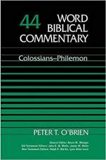 Peter O'Brien Colossians Philemon commentary