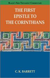 1 Corinthians commentary by C.K. Barrett