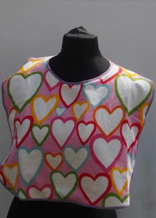 Extra Protection Multi Coloured Heart Bib