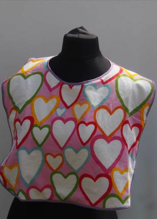 Extra Protection Multi Coloured Heart Bib