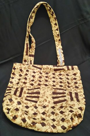 Cream and Brown Splash Pattern Bag