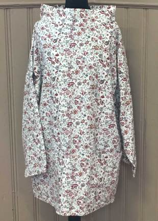 Cream with Red Floral Smock