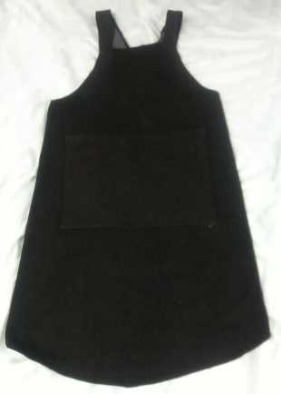 Children's Handmade Black Denim Cover-all Apron