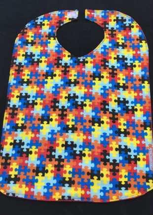 Childrens Everyday Jigsaw Print Bib