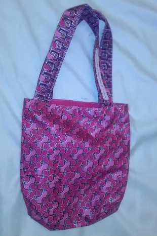 Childrens Pink Glitter Embossed Bag