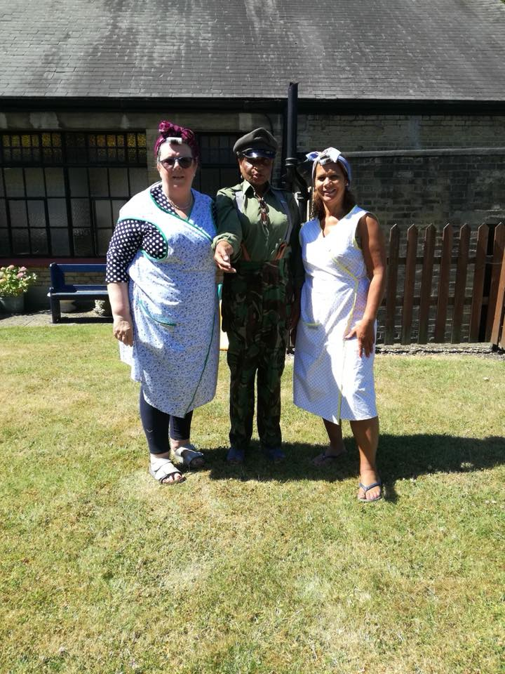 Retro Aprons for Karen and friend at World War Commemoration
