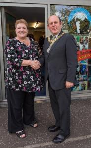 Lord Provost Frank Ross+Lesley