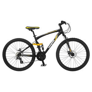 Mongoose Stasis Expert 26-Inch Full Suspension Mountain Bicycle