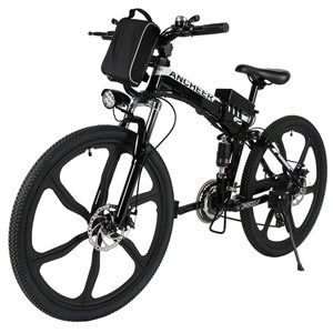 ANCHEER Folding Electric Mountain Bike with Lithium-Ion Battery