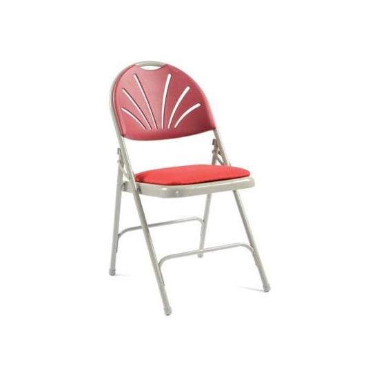 upholstered folding chairs uk rustic accent fan back chair pack of 4