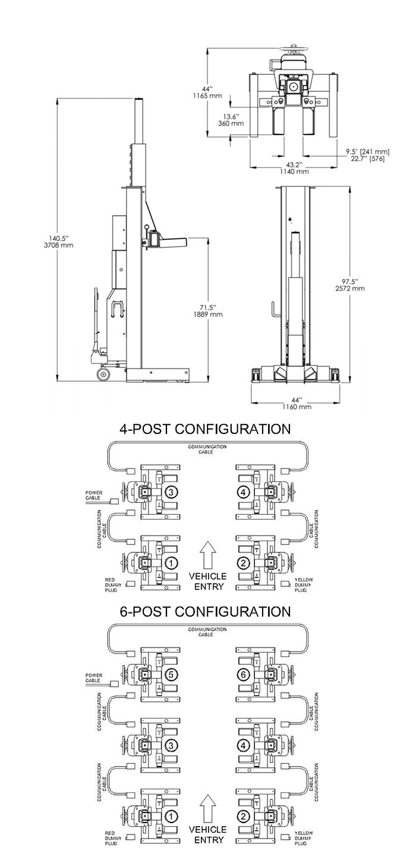 BendPak PCL-18B-2 2 Column 18,000 Lb. Capacity per