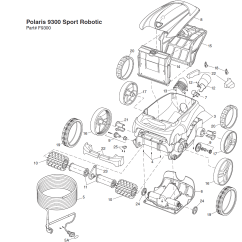 Polaris Pool Cleaner Parts Diagram Gorilla Skeleton 9300 Sport Replacement